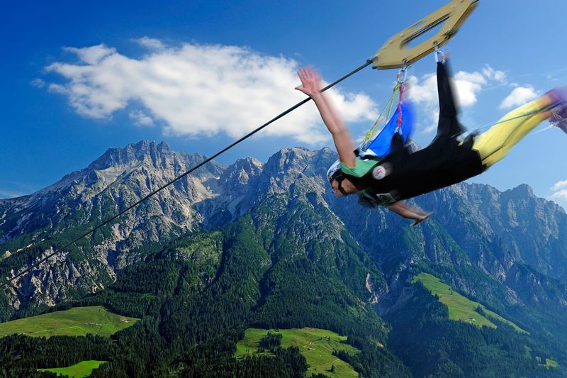 Flying Fox Sommerurlaub Leogang